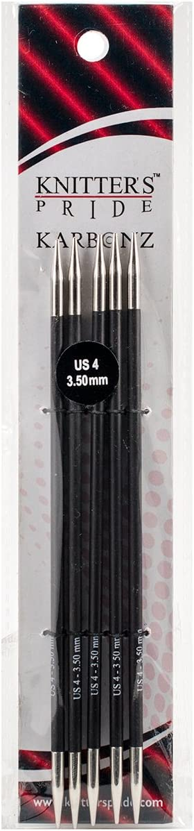 Knitter/'s Pride 3.50 mm 15 cm :Karbonz Double Pointed Needles: 4 US 6 in