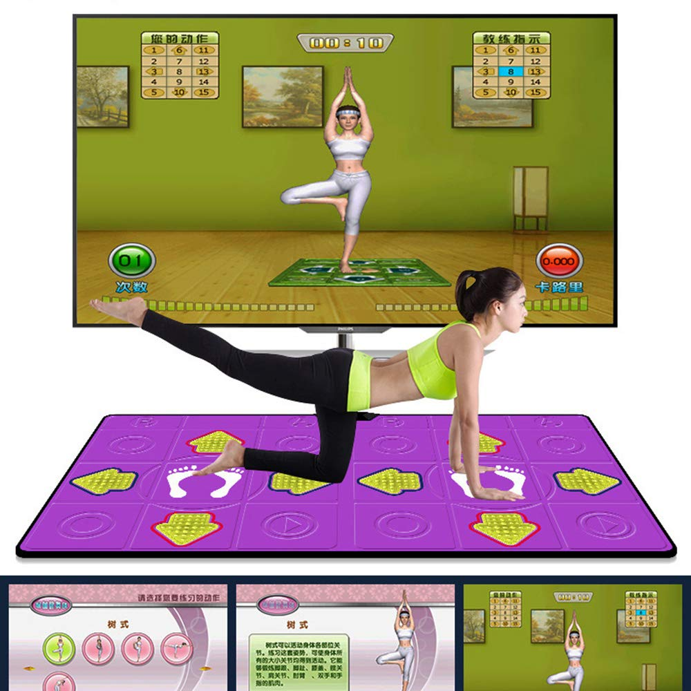 Dance mat Double Hd Game Console Child Adult Weight Loss Machine Pu Material 3D Picture, Silicone Massage Non-Slip, Family Game by Dance mat (Image #5)