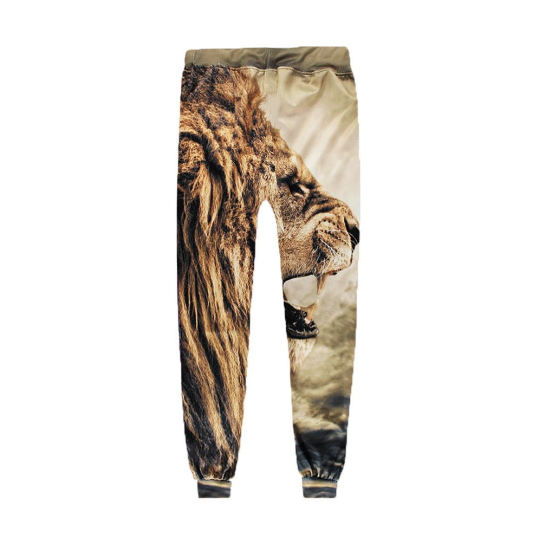 Allywit Men 3D Digital Print Jogger Pants Casual Sports Sweatpants with Pockets by Allywit (Image #2)