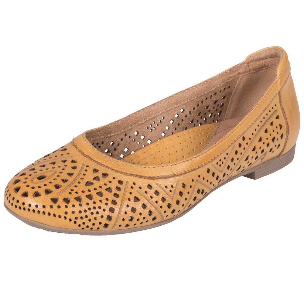Earth Womens Royale Ballet Flat B075138Y1K 9.5 B(M) US|Amber Yellow Soft Leather