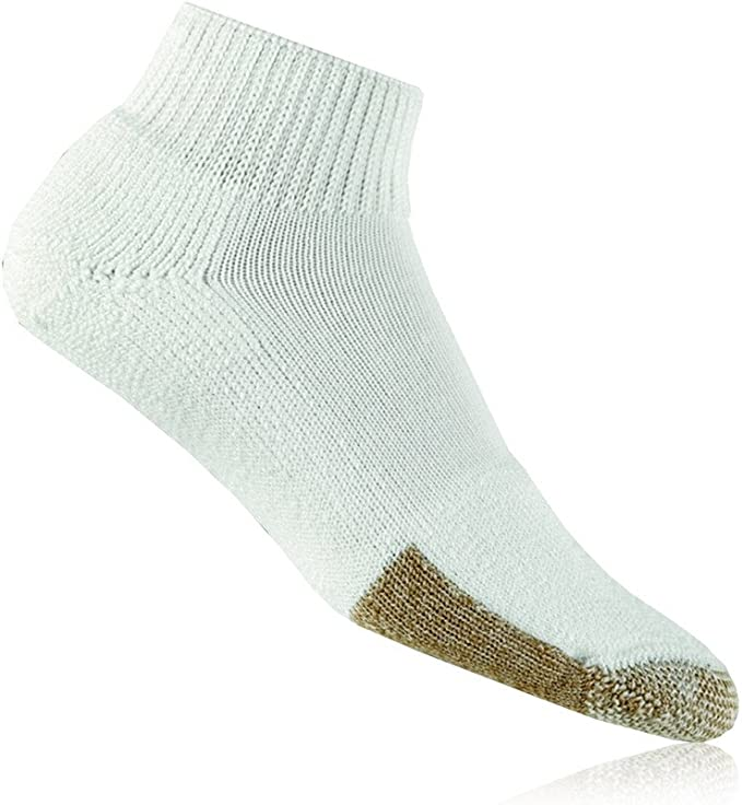 Thorlos Men's & Women's 1 Pair Tennis Mini Crew Socks with Thick Cushion 6-9 White