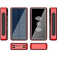 30000mah Draadloze Zonne-energie Bank Externe Batterij Powerbank Draagbare Mobiele Telefoon Oplader Compatibel Met Voor…