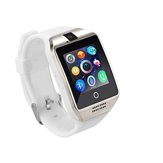 STEPFLY Bluetooth Smartwatch with Camera Bluetooth Music Sim Card Message Notifications of Whatsapp Facebook Twitter Two Battery Smart Watch for ...