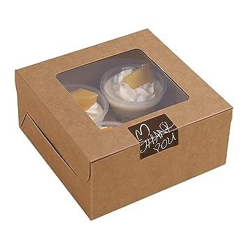 25 UNIDS Cake Cupcake Cajas de Panadería con Ventana para Boda Cumpleaños Fiesta Favores Regalo Invitados
