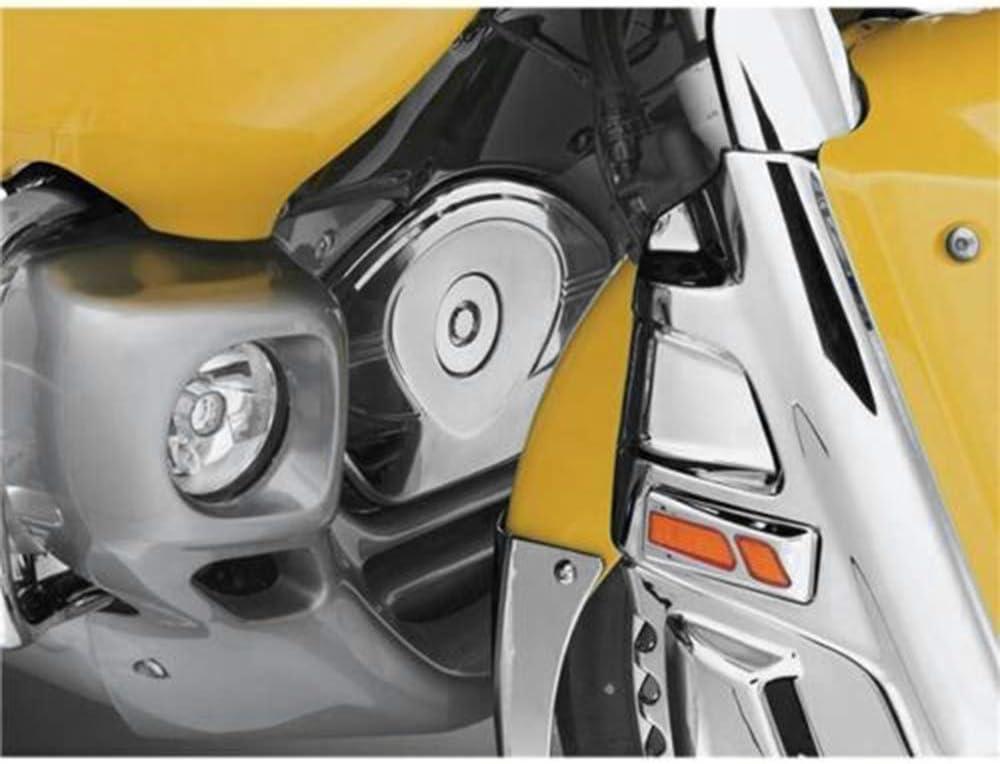 PQZATX Chrom Front Steuer Ketten Abdeckung GEH?Use Schutz f/ür Goldwing 1800 GL1800 2001-2017 F6B 2013-2016 Valkyrie 2014-2016