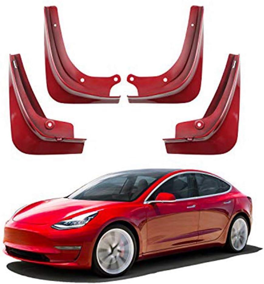 Nrpfell Schmutzf?Nger f/ür Tesla Model 3 Spritzschutz Schmutzf?Nger Kotfl/üGel 4Er Pack Blau Gl?Nzend Lackiert