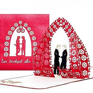 Hochzeitskarte U0026quot;Gay Weddingu0026quot; , Schwule Hochzeit, Edle 3D Karte  Zur Gleichgeschlechtliche Trauung