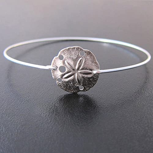 40e2d94836b Image Unavailable. Image not available for. Color: Sand Dollar Bangle  Bracelet, Sea ...