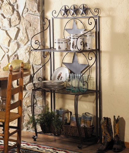 Lone Star Western Baker's Rack - Rustic Furniture