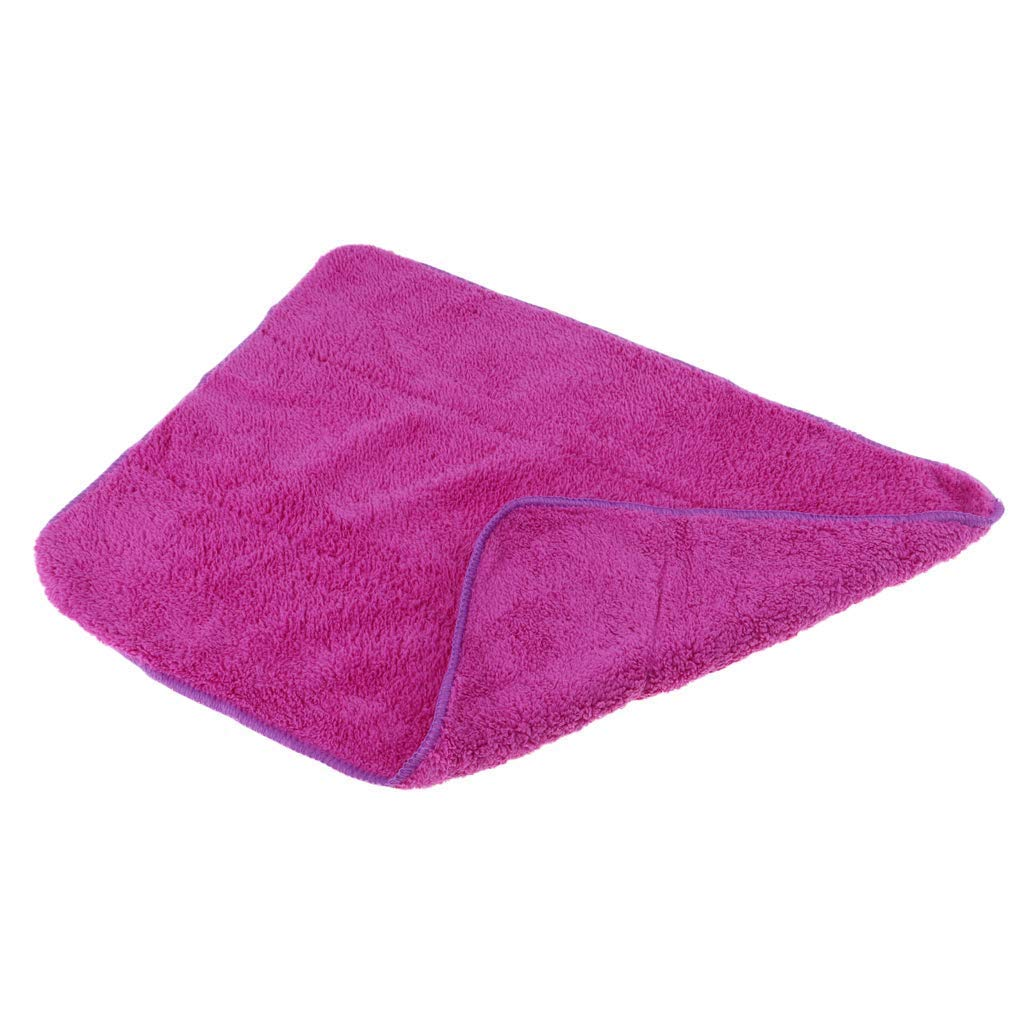 Super Absorbent Soft Microfiber Skates Cleaning Cloth Towel for Home Skating Club Equipment Furniture Car Cleaning Purple