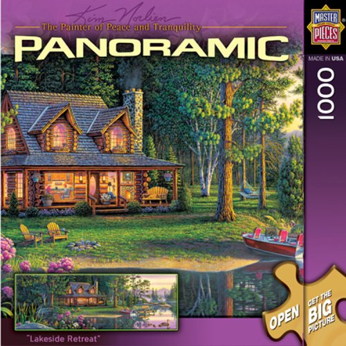 MasterPieces Lakeside Retreat 1000 Piece Puzzle Kim Norlien Panoramics