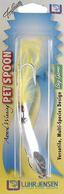 Set of 6 Luhr Jensen Tony Acetta  Pet Spoon Fishing Lures Chrome  Size 13