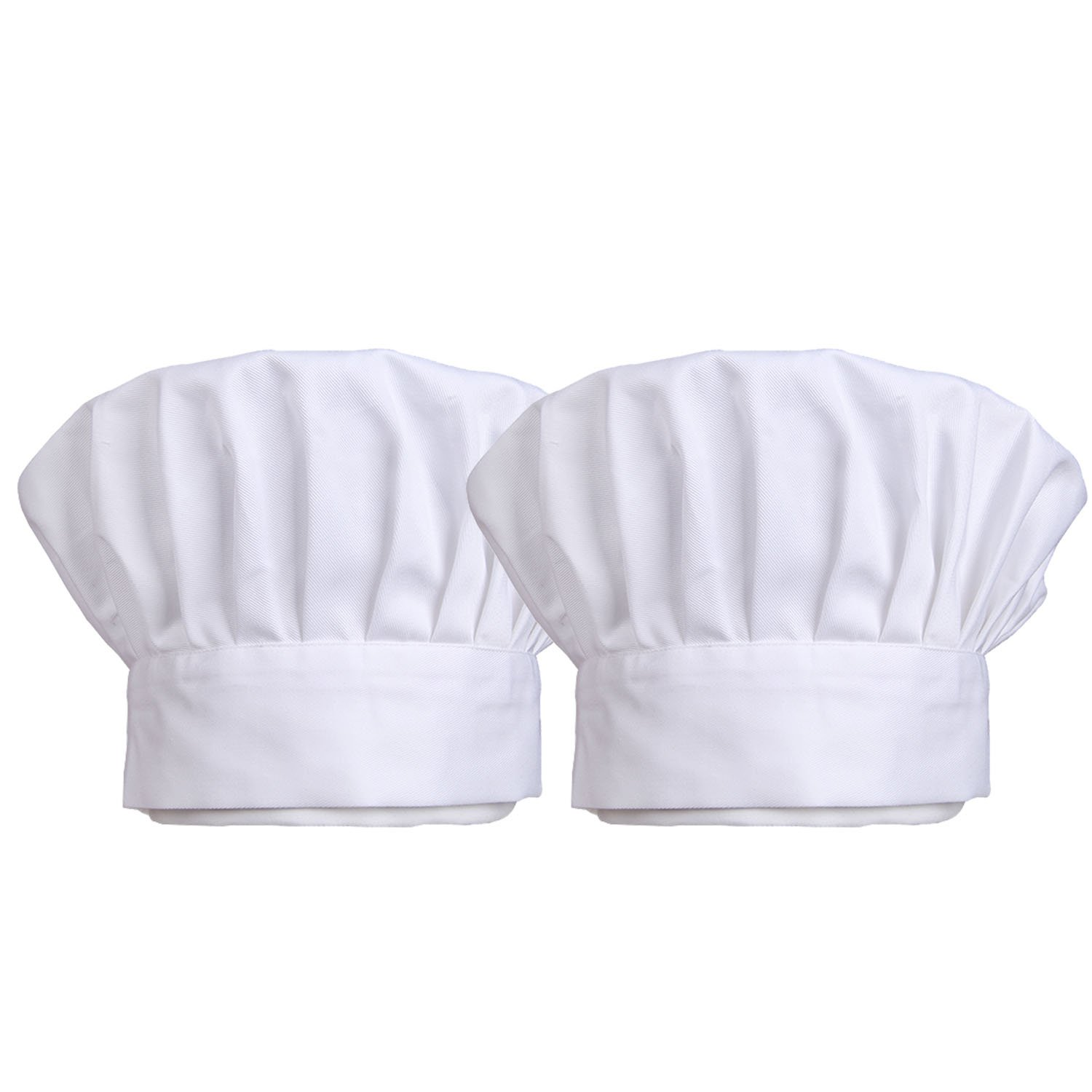 TraderPlus Chef Hat Adjustable Elastic Baker Kitchen Cooking Chef Cap Set of 2