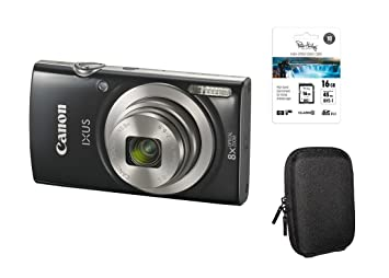 Canon IXUS 185 Negro Kit + 16 GB SDHC Tarjeta de Memoria + ...