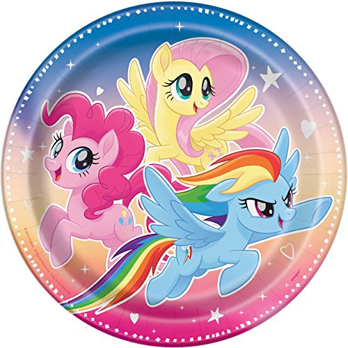 Unique Industries My Little Pony Paper Party Plates, 8ct ()