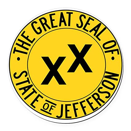 Cafepress state of jefferson seal round car magnet round car magnet magnetic bumper