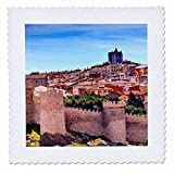 3dRose Danita Delimont - cities - Walls around the ancient medieval city of Avila, Castile, Spain. - 20x20 inch quilt square (qs_257899_8)