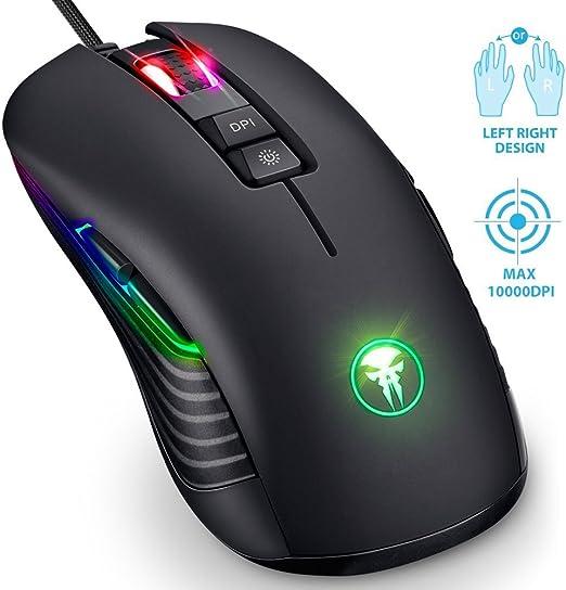 Beidhändige Gaming Maus Rgb Led Gamer Mouse Für Computer Zubehör