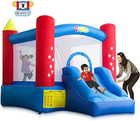 Amazon.com: YARD Castillo inflable con tobogán para ...