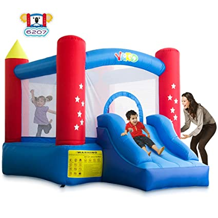 a2089e831d39 Amazon.com  YARD Indoor Outdoor Bounce House with Slide Blower for ...
