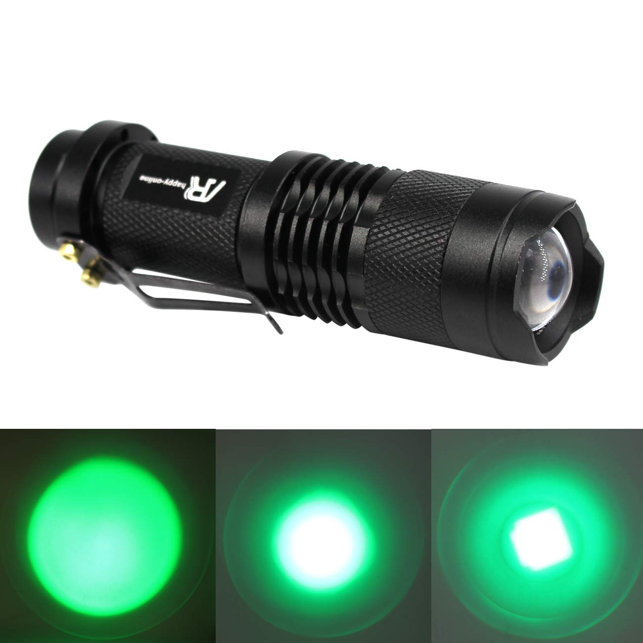 Black Shell, Red Light Tactical Torch with Clip AR happy online 3 Pack AR-200 Zoomable 3 Modes Red Light Mini LED Flashlight 300 Lumens Adjustable Focus Light