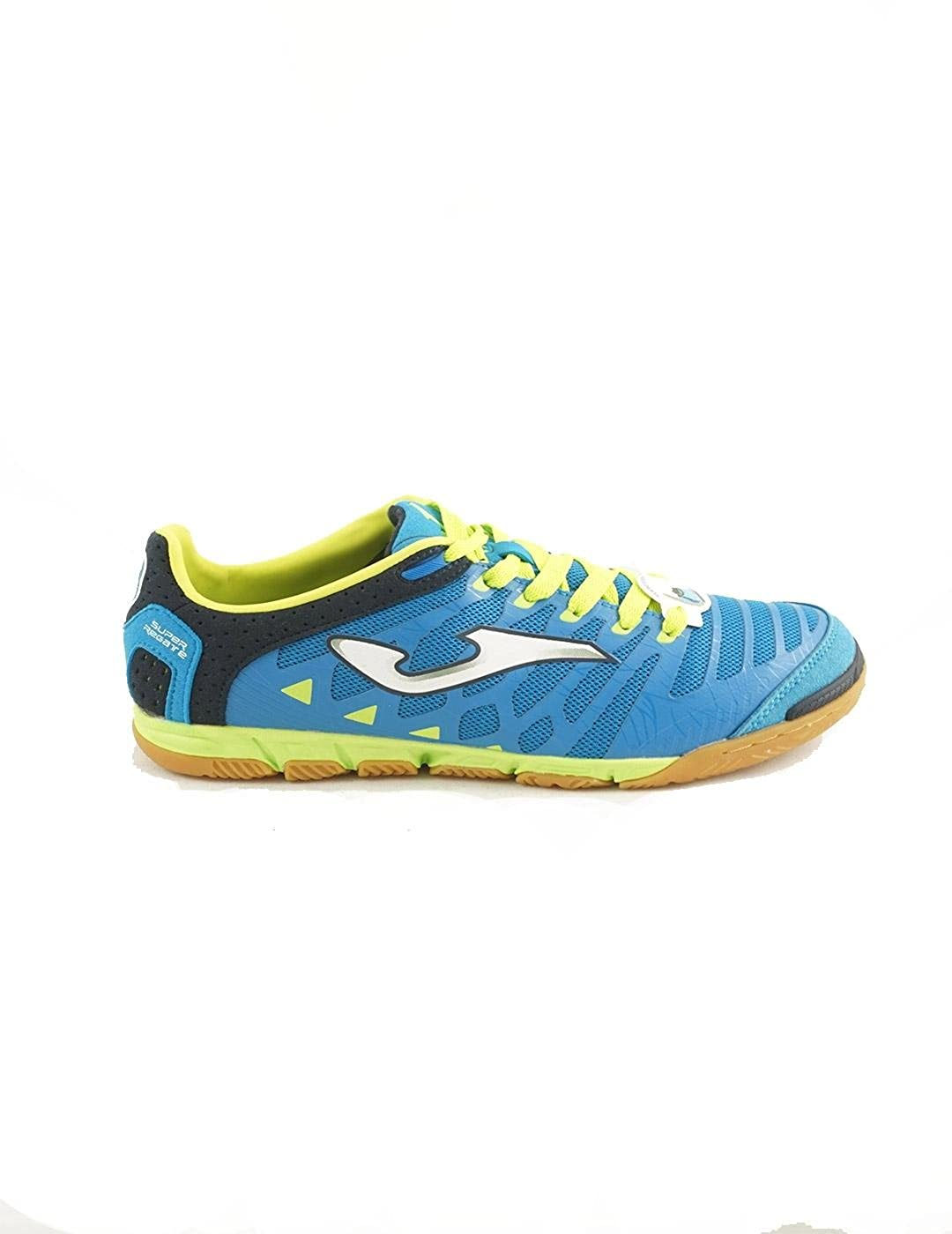 Super Regate Microfibre Indoor Football Trainers - Blau Lime - Größe 9.5