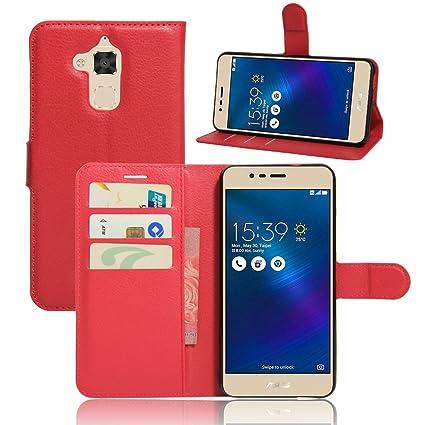 Nadakin ASUS Zenfone 3 MAX ZC520TL 5.2 Inch Cartera de Cuero con Carcasa de Teléfono Flip Funda con Soporte Magnetico de Cierre para ASUS Zenfone 3 ...