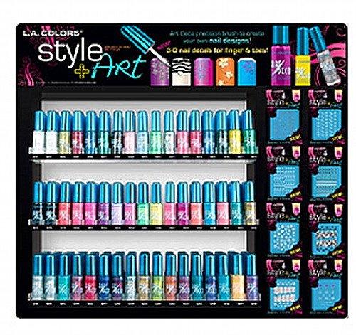 L.A. Colors Art Deco Nail Art - 24 Set - Assorted Colors (L A Colors Nail Polish Set compare prices)