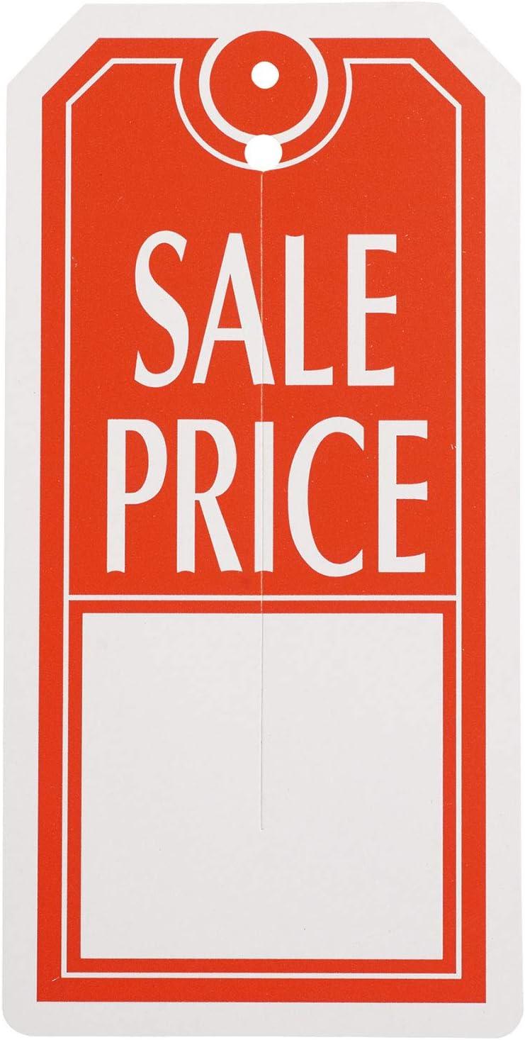 Red/White Sales Price Slit Tags - Carton of 1,000