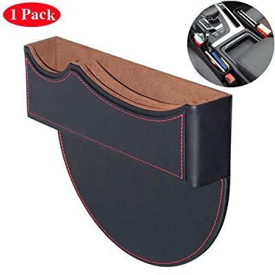 BALMOST Seat Gap Filler, Console Organizer, Car Pocket, Seat Catcher, Seat Crevice Storage Box for Smartphone Loose Change Coin Wallet Key (Black): Automotive