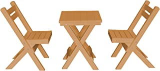 product image for Amish Poly Coronado Square Folding Bistro Set (Cedar)