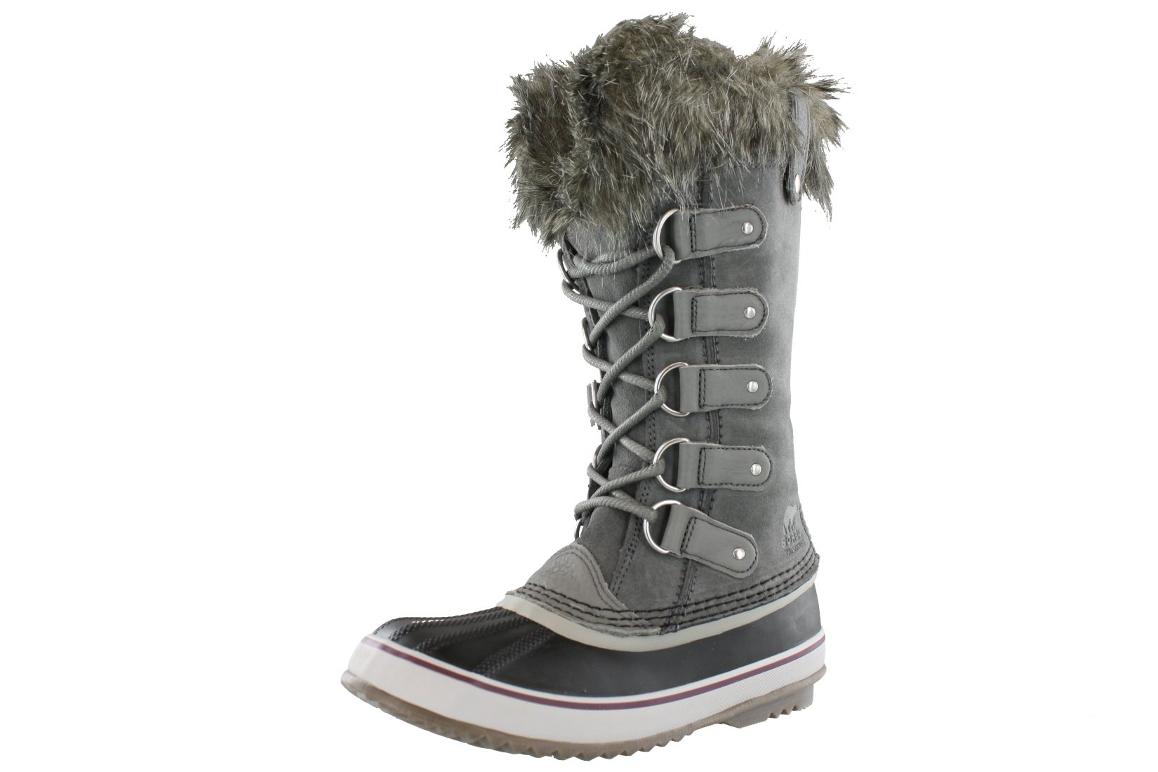 SOREL Women's Joan Of Arctic, Quarry/Black, 8 B-Medium