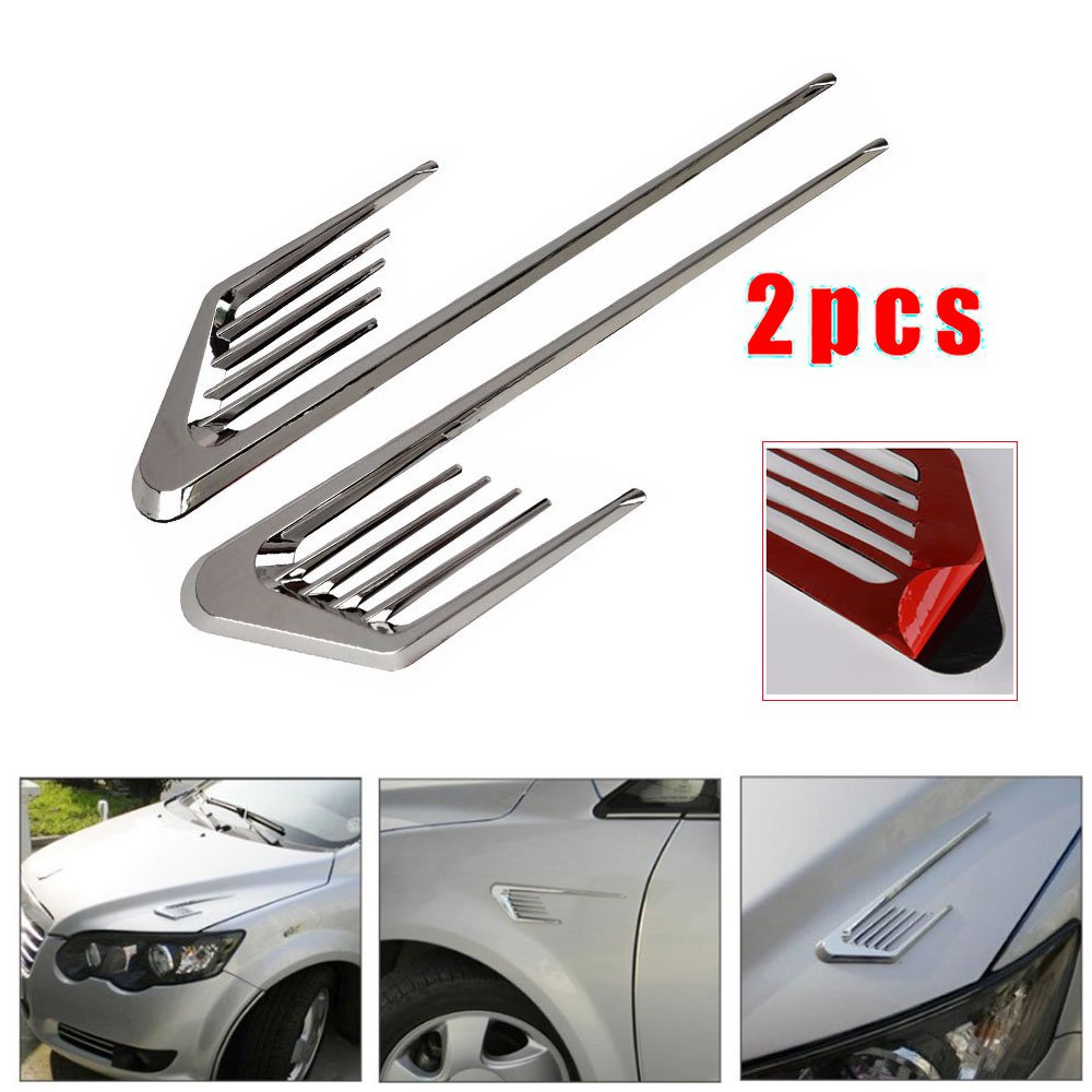 Universal Car Truck Side Mesh Vent Air Flow Fender Decoration Sticker for Buick