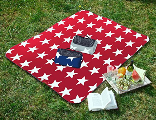 Tolle-Picknickdecke-mit-Sterne-in-Normal-und-XXL-Grsse
