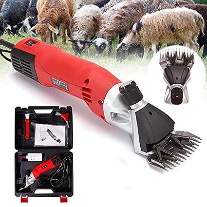 690W Electric Sheep Alpaca Goats Shearing Clipper Sheep Shears Farm Machine RED