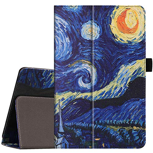 Galaxy Tab A 10.5 Case with Pencil Holder, Gylint Lightweight Pu Leather Case Cover Stand with Auto Sleep/Wake, Protective for Samsung Galaxy Tab A 10.5 SM-T590 (Wi-Fi); SM-T595 (Star Night)