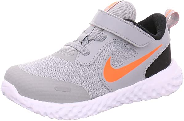 Nike Revolution 5 TDV, Zapatillas Unisex Niños, Lt Smoke Grey/Total Orange 23.5 EU: Amazon.es: Zapatos y complementos