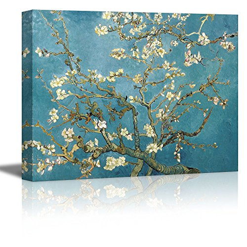 - wall26 Almond Blossom by Vincent Van Gogh - Oil Painting Reproduction on Canvas Prints Wall Art, Ready to Hang - 32