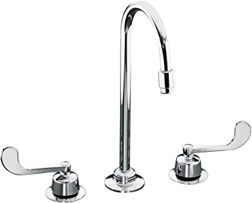 Kohler K 7304 5a Cp Triton Widespread Lavatory Faucet Polished Chrome Touch On Bathroom Sink Faucets Amazon Com