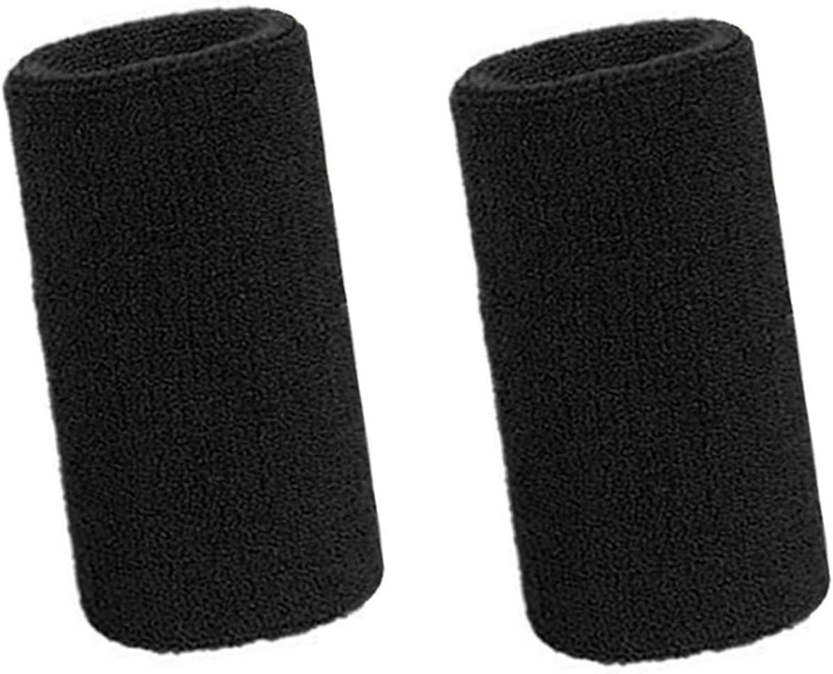 Lvcky - Muñequeras deportivas elásticas de algodón para deportes, 6 pulgadas, 2 unidades