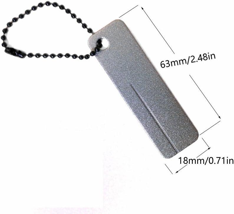 EDC Pocket Diamond Stone Sharpener Keychain Sharpener Outdoor Tools Portabl I4U2