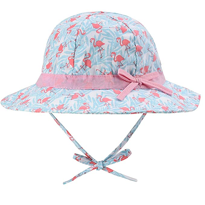 f258db2c5913 Baby Sun Hat for Girls - Toddler Kids Girls UPF 50+ Wide Brim Bucket Sun