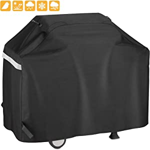 Grisun 65 Inch Grill Cover for 3 to 5 Burners Gas Grills, Heavy Duty Waterproof, Fade Resistant BBQ Grill Cover for Weber Charbroil Nexgrill Brinkmann, All Weather Protection