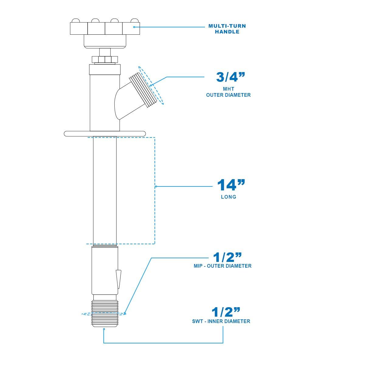Everflow Supplies 6208 Nl Lead Free 1 2 Inch Mip Sweat Inlet X 8 Ze 208s6 Switch Wiring Diagram Ceiling Fan
