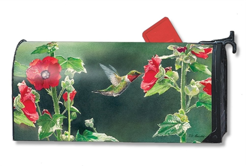 Hummingbird Delight Magnetic Mailbox Cover - LARGE SIZE