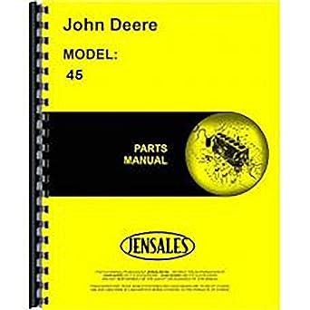 John Deere 45 Farm Loader Parts Catalog Manual ORIGINAL