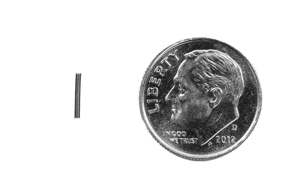 0.255 Length Stainless Steel Tumbling Media Pins 0.047 Diameter 15 lb Pack