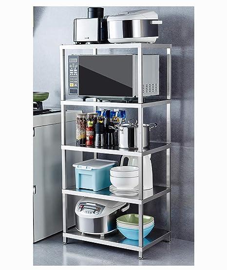 La cocina Bastidor de almacenamiento Estante de cocina de acero ...