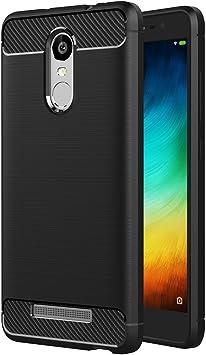 AICEK Funda Xiaomi Redmi Note 3 Pro, Negro Silicona Fundas ...