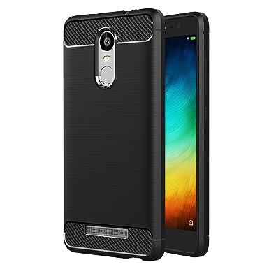new concept 2ee4a 35c50 Xiaomi Redmi Note 3 Pro Case, AICEK Black Silicone Cover for Redmi Note 3  Pro Bumper Covers Xiaomi Redmi Note 3 Black Carbon Fiber Case (5.5 inch)